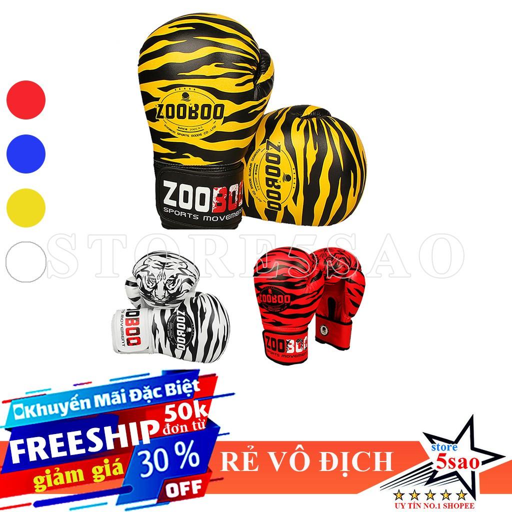 🎁 Bao tay boxing Zooboo hình hổ ⚡FREESHIP⚡ Găng tay boxing đấm bốc giá rẻ