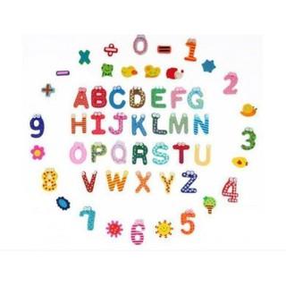 Bộ chữ số sinh vật bằng gỗ nam châm [MT945]