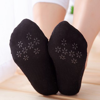 vớ ren chống trượt mang giày cao gót, giày búp bê (màu Kem, màu đen) - PK07 3