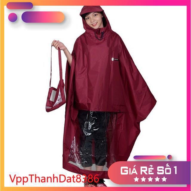 (Sale)  Áo mưa cánh dơi vải dù chống rách siêu nhẹ siêu bền