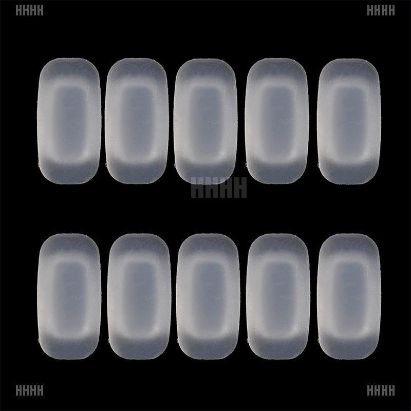 [WYL]5 Pairs silicone eyeglass sunglasses glasses nose pads soft rectangle vision