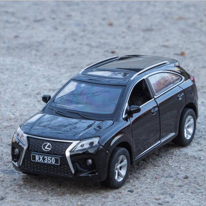 Xe mô hình ô tô Lexus RX350 tỉ lệ 1:32 xe bằng sắt có âm thanh và đèn