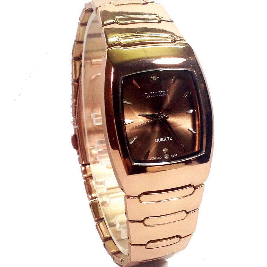 Đồng hồ nam mặt chữ nhật dây kim loại LONGBO B889