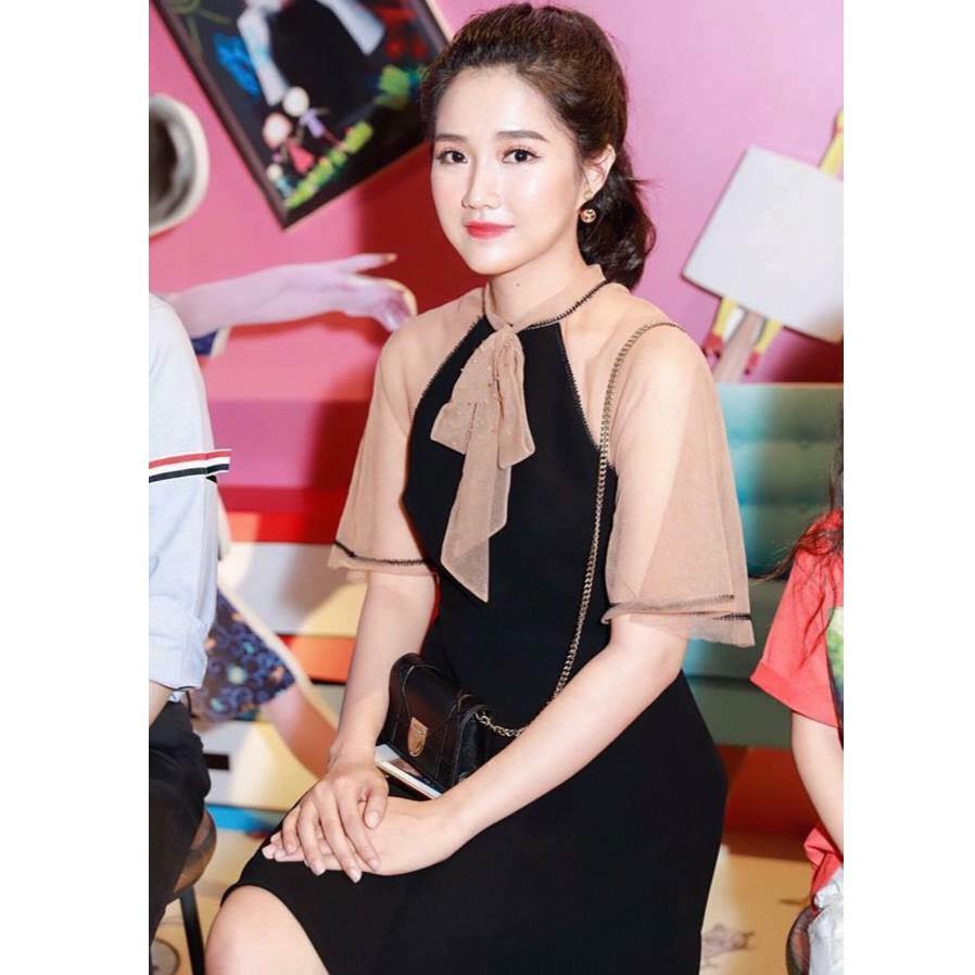 Đầm phối lưới đen tay lỡ tiểu thư| Váy đầm xòe phối lưới kiểu Hàn Quốc thời trang - 10055960 , 1170627103 , 322_1170627103 , 180000 , Dam-phoi-luoi-den-tay-lo-tieu-thu-Vay-dam-xoe-phoi-luoi-kieu-Han-Quoc-thoi-trang-322_1170627103 , shopee.vn , Đầm phối lưới đen tay lỡ tiểu thư| Váy đầm xòe phối lưới kiểu Hàn Quốc thời trang