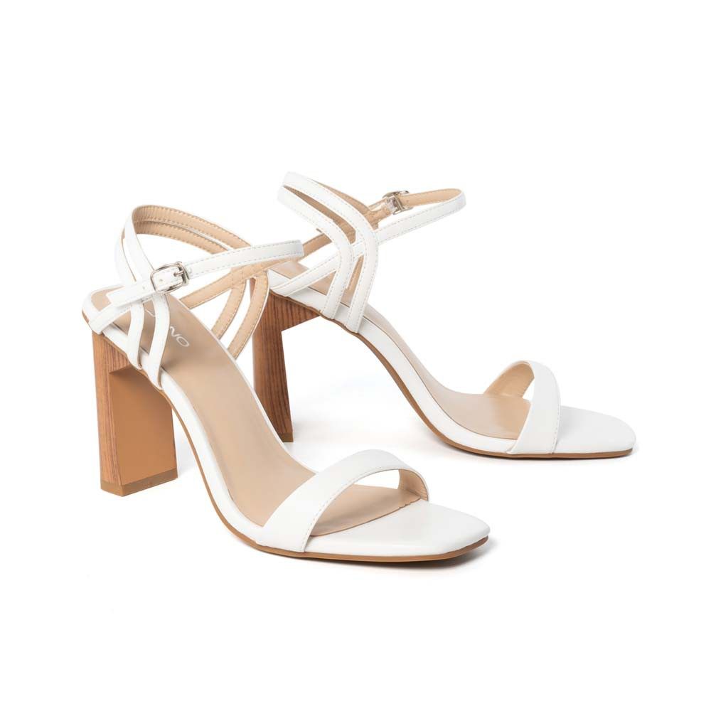 JUNO - Giày sandal gót sơn giả gỗ - SD