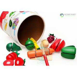 Thật Tuyệt Vời – Bồ đồ chơi cắt hoa quả gỗ- SMH112