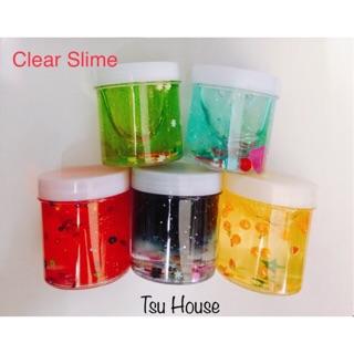 Clear Slime – Chất Slime Trong Suốt Kèm Cốm ( Mã SP: CS 01)