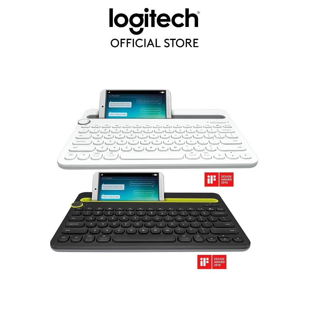 Bàn phím Bluetooth đa thiết bị Logitech K480 [Đen-Trắng]