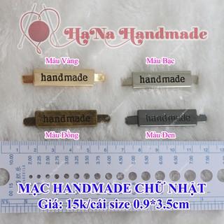 [Mã SKAMSALE06 giảm 10% tối đa 100K đơn 150K] Mạc handmade kim loại ghim chữ nhật (15k/cái)