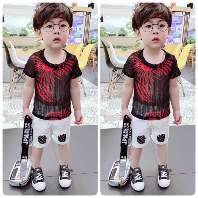 Sét bộ áo lưới quần ngố cực chất cho bé