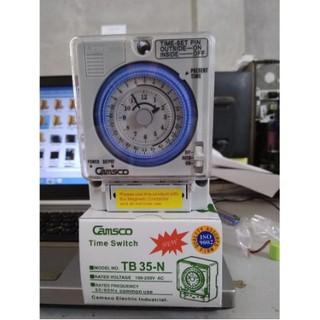 [Sốc] Sale Giá gốc Rơ le thời gian thực bộ hẹn giờ công tắc thời gian Relay thời gian thực Camsco TB35-N (Timer) .