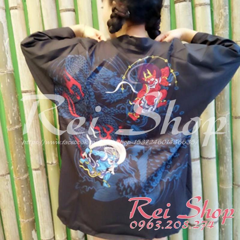 Haori - Haori họa tiết quỷ Oni xanh đỏ - Áo phong cách Nhật Bản - 3138289 , 595523064 , 322_595523064 , 199000 , Haori-Haori-hoa-tiet-quy-Oni-xanh-do-Ao-phong-cach-Nhat-Ban-322_595523064 , shopee.vn , Haori - Haori họa tiết quỷ Oni xanh đỏ - Áo phong cách Nhật Bản