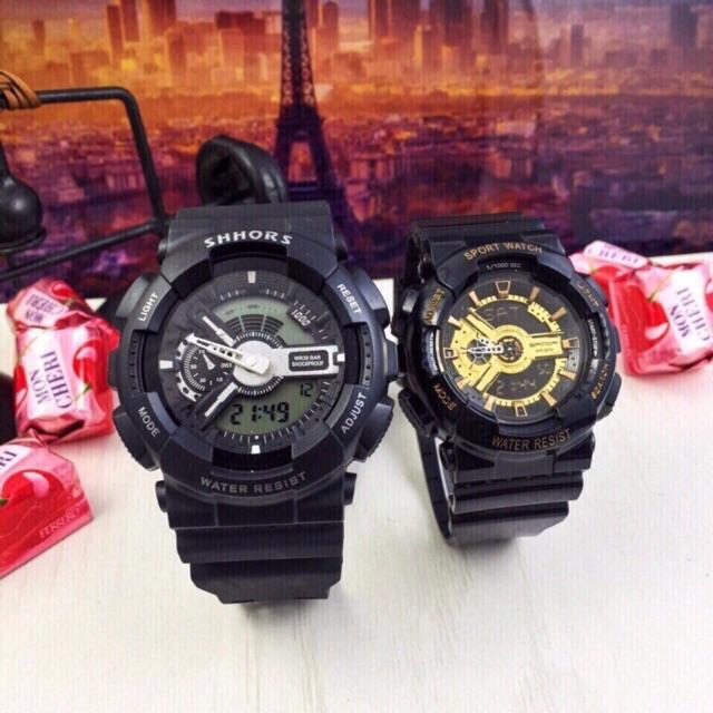 Đồng hồ thể thao nam nữ cặp Sport watch chống nước chống va đập tốt