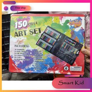 Hộp màu 150 chi tiết- Bộ tô màu và dụng cụ vẽ cho bé yêu
