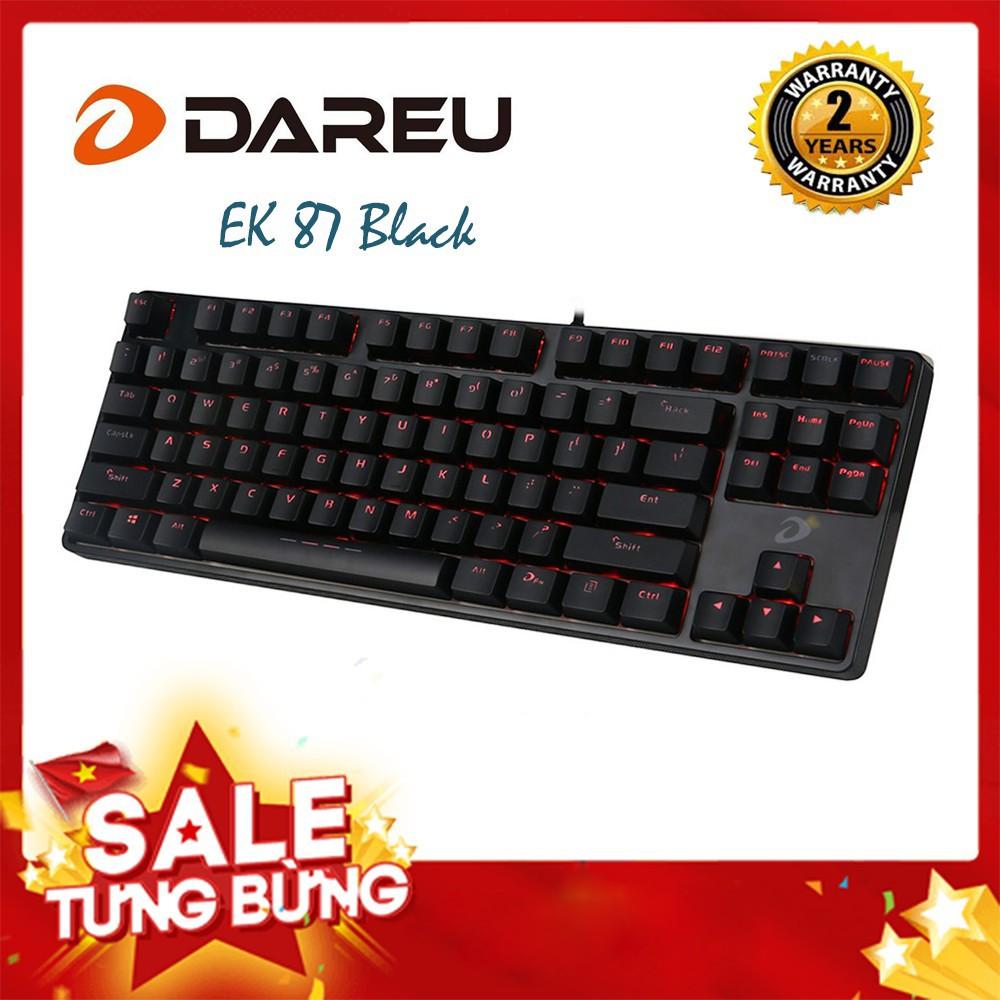 Bàn phím cơ DareU EK87 Black BH 2 năm chính hãng (Black/White) - Bản mới DareU EK87