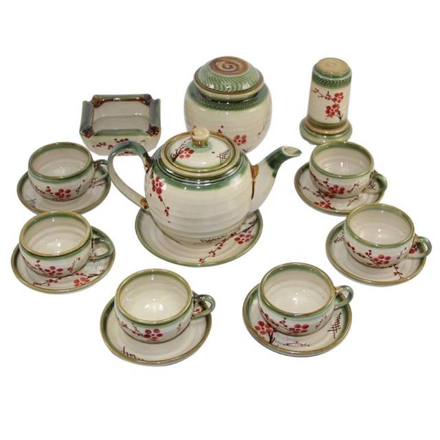 Bộ ấm chén hoa đào vẽ tay (gồm phụ kiện như ảnh) Gốm sứ Bát Tràng - 14014292 , 2645238889 , 322_2645238889 , 540000 , Bo-am-chen-hoa-dao-ve-tay-gom-phu-kien-nhu-anh-Gom-su-Bat-Trang-322_2645238889 , shopee.vn , Bộ ấm chén hoa đào vẽ tay (gồm phụ kiện như ảnh) Gốm sứ Bát Tràng