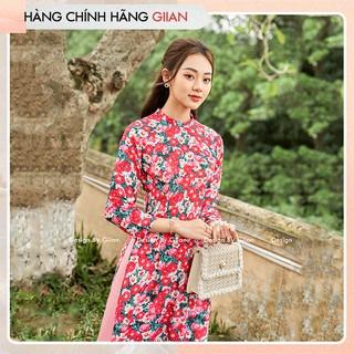 Giian - Áo dài hoa nhí cách tân phong cách nữ tính, hiện đại - thiết kế chính hãng - LV532 thumbnail