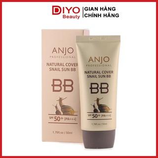 Kem nền chống nắng BB Anjo Natural Cover Snail Sun SPF50+ PA+++ 50ml Hàn Quốc thumbnail
