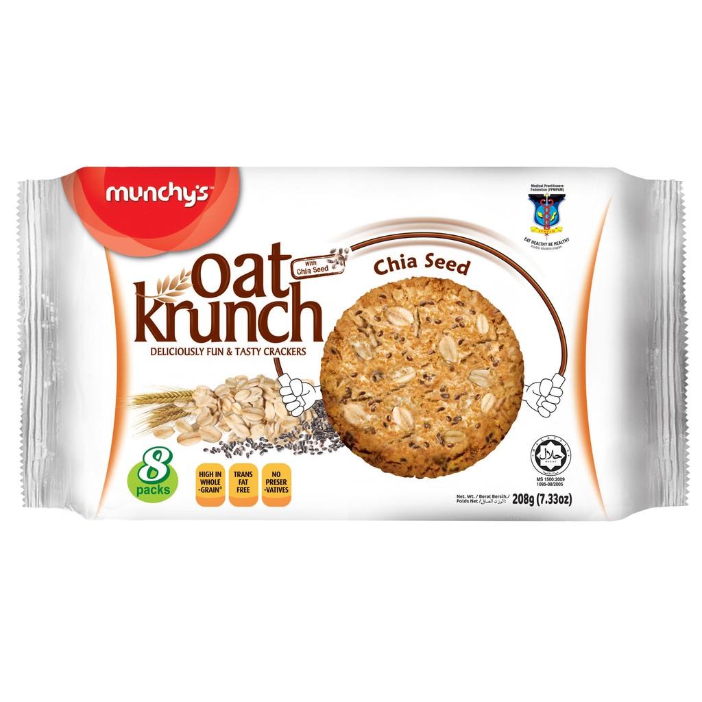 Bánh yến mạch Munchy's Hạt Chia – Oat Krunch