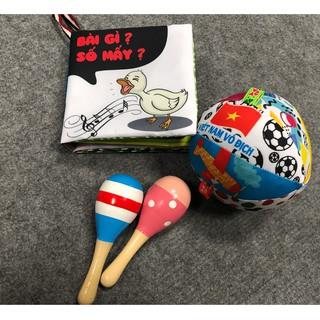 Bộ đồ chơi sách vải xúc xắc cho trẻ sơ sinh