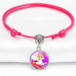 Vòng tay Unicorn dây da mặt đá đơn giản đáng yêu cho bé gái có thể điều chỉnh kích thước phù hợp cho bé BBShine J065 thumbnail