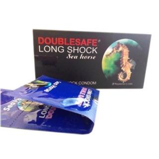 [FREESHIP] Bao cao su kéo dài Double Safe Longshock CÁ NGỰA kéo dài thời gian cực lâu HỘP LỚN 12 CÁI thumbnail