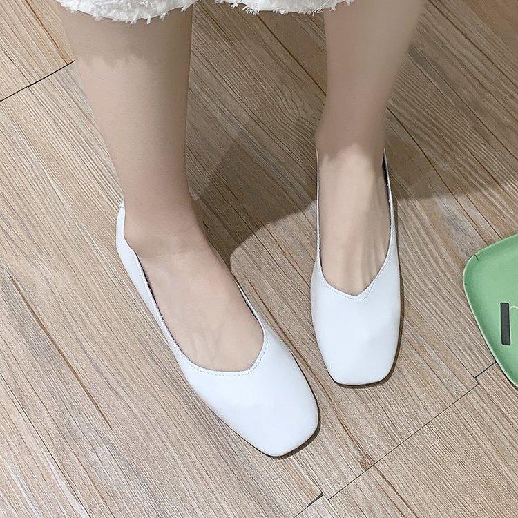 Giày Bít Mũi Bằng Da Phong Cách Cổ Điển Thanh Lịch Dành Cho Nữ