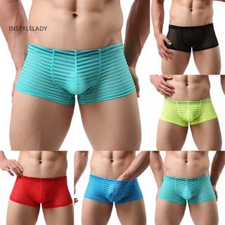 iy Men U Convex Bulge Pouch Boxers See Through Sexy Briefs Underwear Underpants