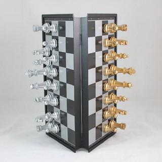 bộ bàn cờ vua nam châm màu vàng- bạc, chơi cờ vua, bàn cờ vua tiêu chuẩn Quốc Tế, bàn cờ vua cao cấp