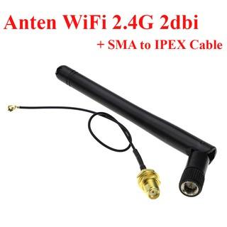 Combo 1 Anten WiFi 2.4G 2dbi Kèm Dây chuyển SMA sang IPEX 3