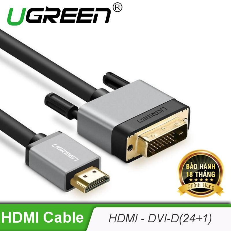 Cáp chuyển đổi HDMI Sang DVI-D (24+1) (DÀI 1-8M) UGREEN HD128