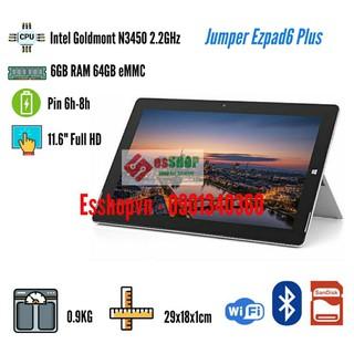 Laptop 2 trong 1 Jumper EZ6 PLUS màn hình cảm ứng 11.6 inch Full HD 6GB RAM 64GB – Likenew 99%