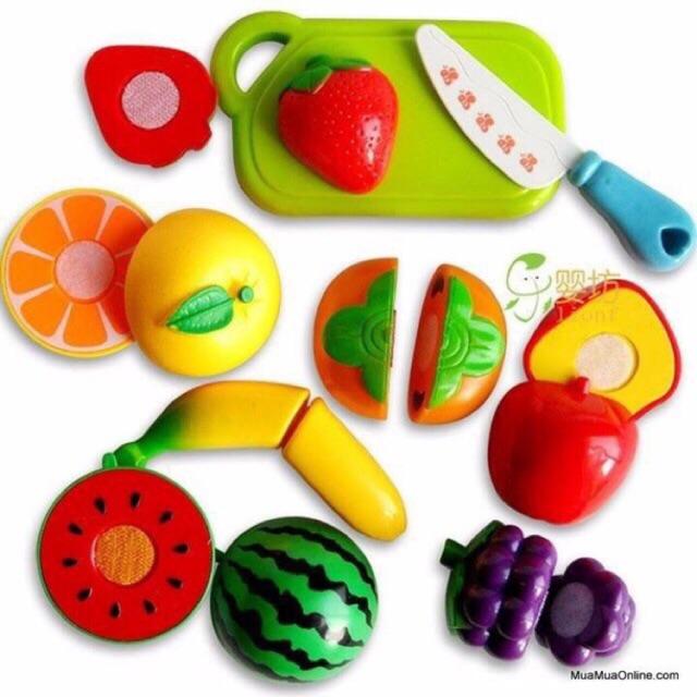 Đồ chơi cắt hoa quả - rau củ nhựa cho bé
