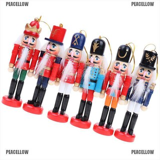PEACELLOW 1pc Christmas Decoration 12cm Wood Made Nutcracker Puppet Year Christmas