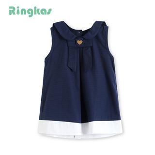 váy bé gái váy hè bé gái váy cotton váy màu xanh váy cộc tay đầm bé gái 1 tuổi đầm bé gái 3 tuổi sành điệu