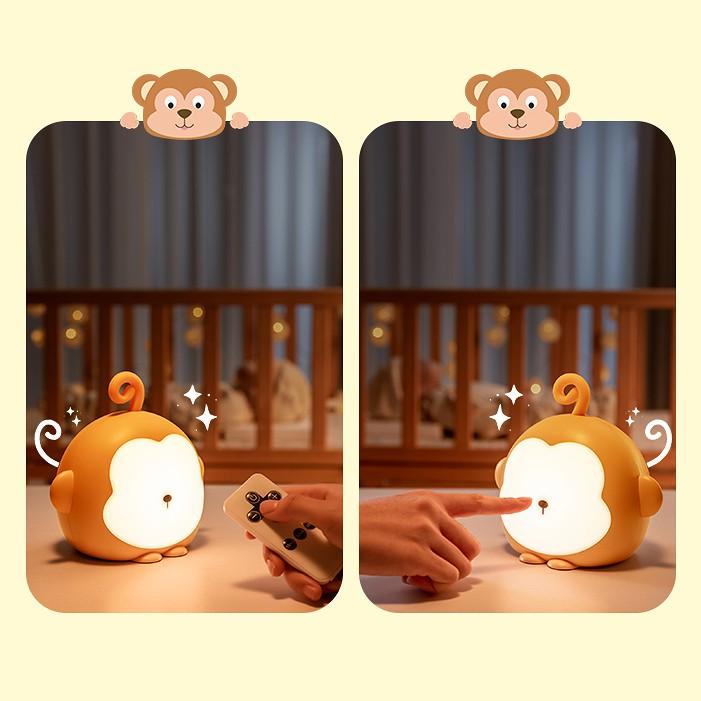 Đèn ngủ,đèn led trang trí khỉ thông minh Wh-B16 (Có remote)