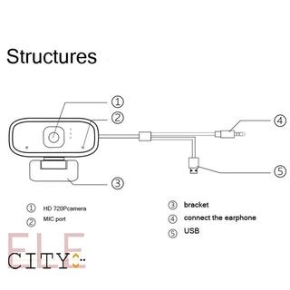 Webcam Mini Xoay Được 107ele 720p Hd Cho Máy Tính thumbnail