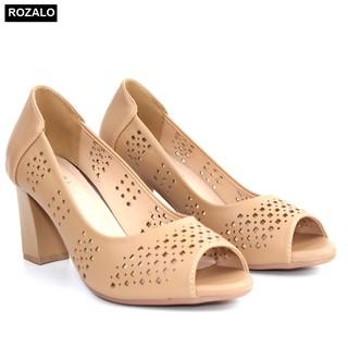 Giày nữ cao gót 7P đục lỗ hở mũi Rozalo R6100 thumbnail