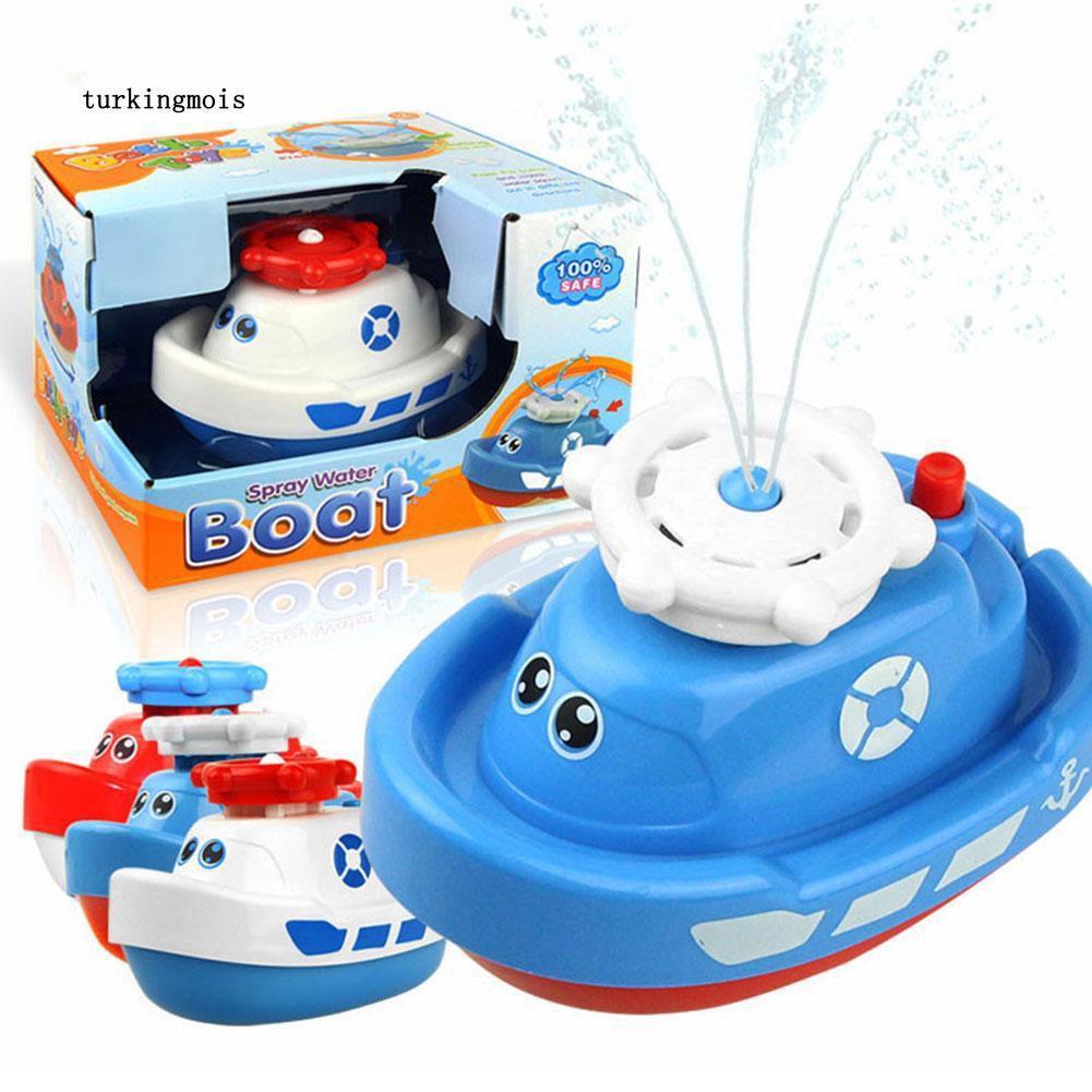 TK-Marine Animal Model Bath Toy Baby Toddler Bathroom Electric Spray Water Boat