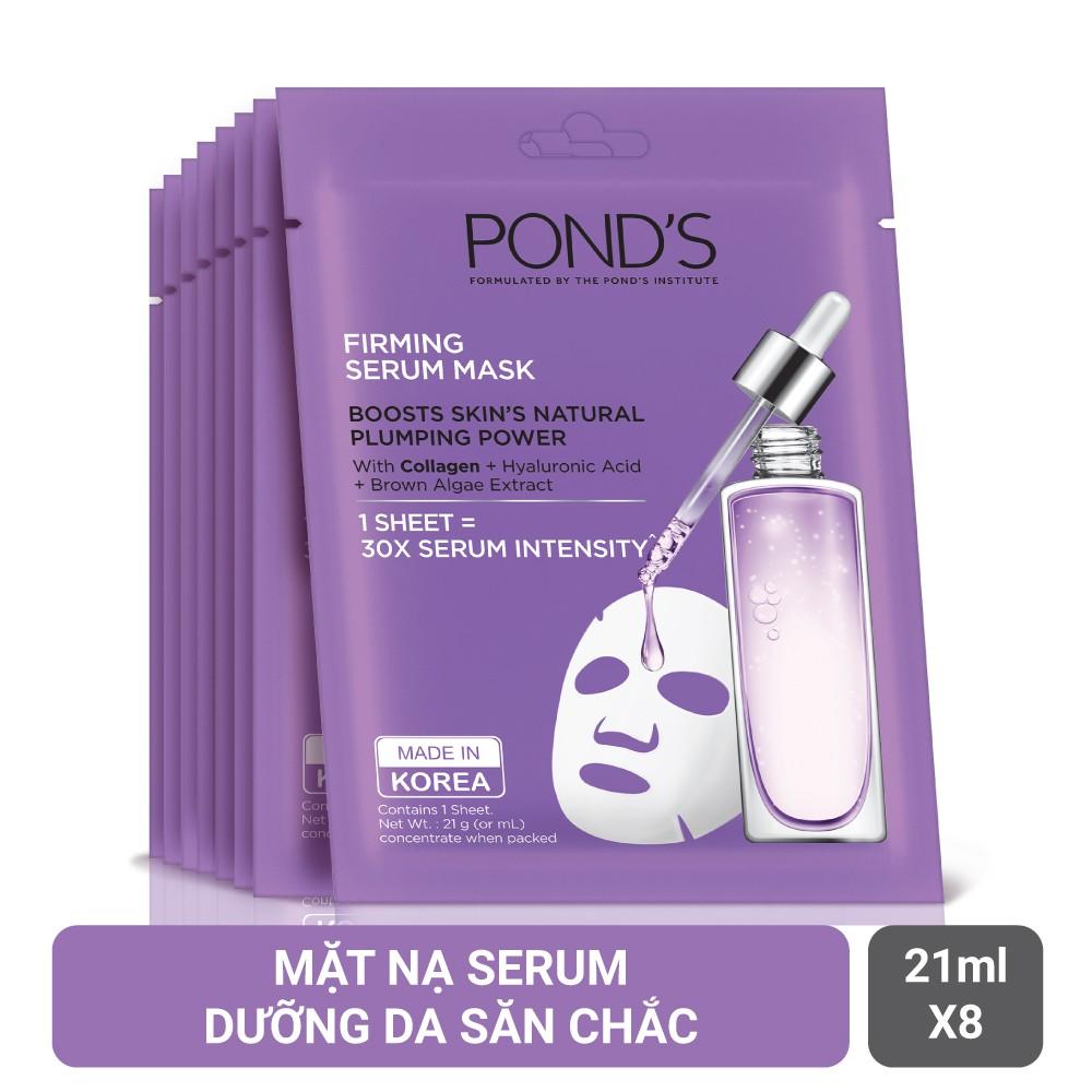 Combo 8 mặt nạ tinh chất dưỡng da săn chắc Pond's Firming Serum Mask