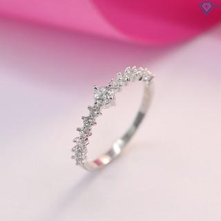 Nhẫn bạc nữ đẹp giá rẻ đính đá trắng tinh tế NN0213 - Trang Sức TNJ