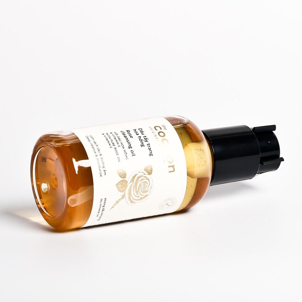 Combo Dầu tẩy trang hoa hồng cocoon 140ml + Son dưỡng môi dầu dừa bến tre cocoon 5g