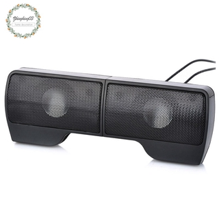 Portable Clip-On USB Powered Stereo Speaker Soundbar for Notebook