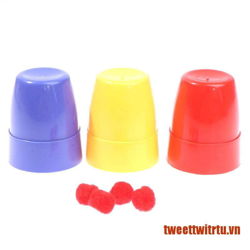 【TrTu】Three Cups And Balls Magic Tricks Many Size Close Up Stage Magic Props T