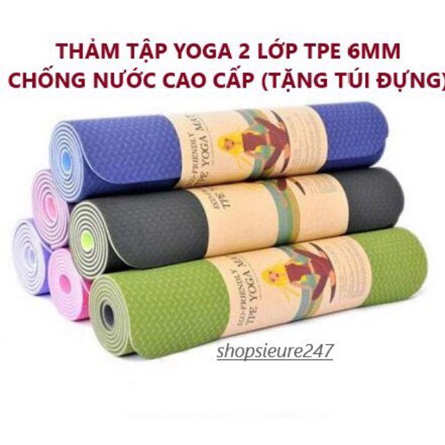 Thảm tập Yoga Friendly hàng chính hãng 6mm XỊN