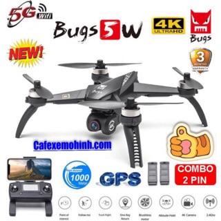 [Camera 4k] Flycam Mjx bugs 5w pro nâng cấp động cơ bay 1km có GPS tự bay về camera xoay 90 độ
