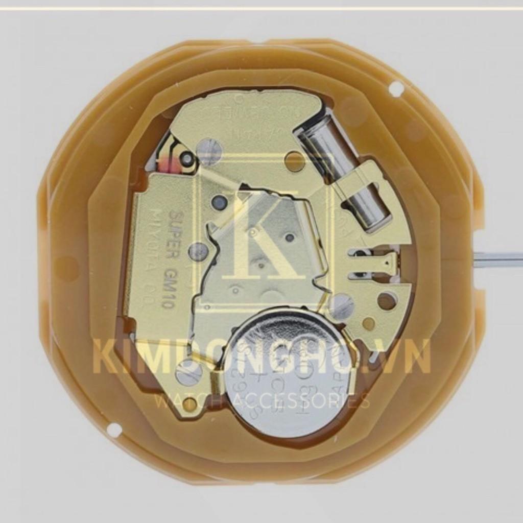 Máy Miyota Super GM10 3 kim lịch 6h, lịch 3h cho đồng hồ đeo tay