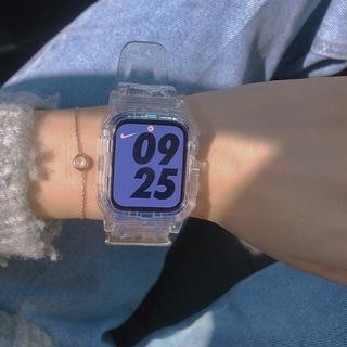 Dây đeo silicon trong suốt cho đồng hồ thông minh Apple 38mm 40mm 44mm 42mm Iwatch dòng 6 5 4 3 2 1 thumbnail