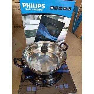 BẾP ĐIỆN TỪ PHILIPS SIÊU MỎNG PL-01(made in thailand) Tặng kèm nồi
