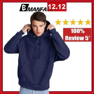 Áo Hoodie Nam Vải Nỉ Cotton Đẹp Chất Dài Tay Form Rộng Hàn Quốc 1 Màu Xanh Dương Trơn Đủ Màu Đủ Size M L XL 2XL